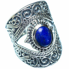 Large Lapis Lazuli 925 Sterling Silver Ring Size 7.25 Ana Co Jewelry R6409F