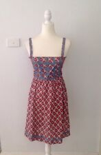 Princess Highway Blue And Red Print Dress - Size 8