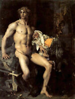 Oil painting Jules Bastien-Lepage French - Achilles and Priam nude Hand painted