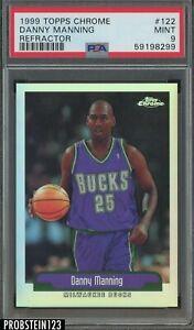 1999-00 Topps Chrome Refractor #122 Danny Manning Milwaukee Bucks PSA 9