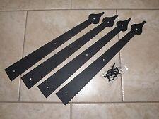 Garage Door Deluxe Decorative Hardware Kit  - (4) Hinges only - Includes Screws