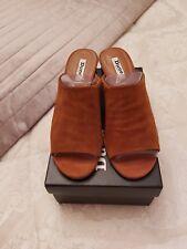 Dune Tan suede leather mule sandal size 6/39