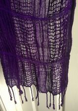 Lovely Ladies Purple Scarf Shawl – NEW Without Tags