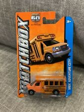 Matchbox GMC School Bus MBX Adventure City Orange  VHTF