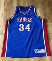 1995 Kansas Jayhawks PAUL PIERCE Authentic Nike Blue Jersey XXL