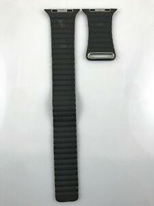 Original Genuine Apple Watch Leather Loop 42mm 44mm 45MM Medium band Storm Gray