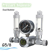 220V G5/8 Aquarium CO2 Regulator Pressure Gauge Flow Bubble Gas magnetic Valve