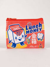 Lunch Money Coin Purse Blue Q Small Wallet Card Holder Funny Gifts