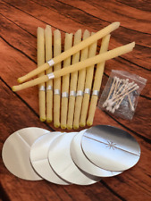 10 Pc natural beeswax candles For Ear Candling Wax Removal Ear Coning