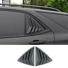 For Chevrolet Equinox 2018-2021 Black Rear Side Window Quarter Louver Cover Trim