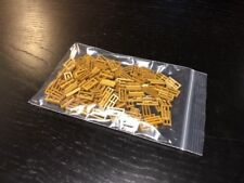 Lego Lot of 133 New Pearl Gold Tiles Modified 1 x 2 Grille Grates Pieces NEW
