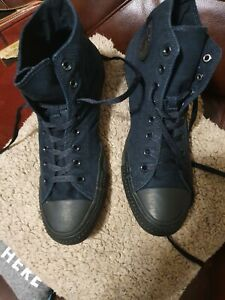 converse all star  black canvas hi tops size uk 12  Good Condition