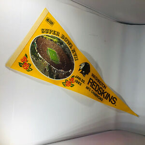 Washington Redskins Superbowl XVII NFC Champs 1983 Logo NFL Full Felt Pennant
