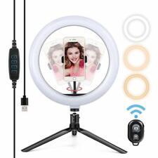 Anneau Lumière LED Avec Trépied Réglable Eclairage Photo Télécommande Bluetooth