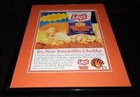 1989 Lays Cheddar Chips Cincinnati Bengals Framed 11x14 ORIGINAL Advertisement