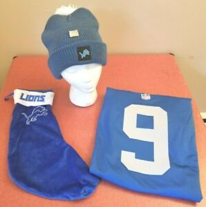 Detroit Lions NFL Nike Blue Matthew Stafford #6 Small Jersey Christmas Gift Set