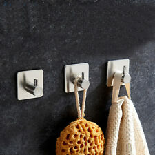 Stainless Steel Kitchen Bathroom Shower Towel Wall Hook Strong Sticker Cup Hook