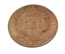 COIN GANESH JI EAST INDIA CO. UKL ONE ANNA TEMPLE TOKEN BIG COIN  1818