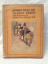 Edmund Dulac - Stories from the Arabian Nights - 1920s in RARE Original Jacket