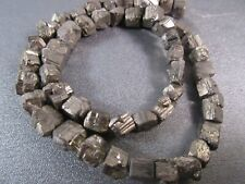 Pyrite Faceted Square-Nuggets Beads 52pcs