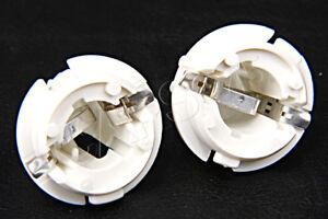 Genuine Mercedes W140 W164 W220 W251 White Tail Turn Signal Socket Holder 2 Pcs