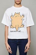 WOMENS FUNNY CAT T SHIRT INSECURE CAT T SHIRT