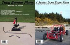 4 SEAT DUNE BUGGY SANDRAIL & TUBE BENDER PLANS ON C.D