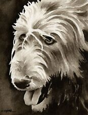 Irish Wolfhound note cards by watercolor artist Dj Rogers