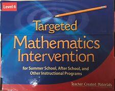 Targeted Mathematics Intervention Level 6 Kit Teacher Created Materials TCM11132