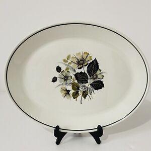 Johnson Brothers Wildmoor - 31cm Vintage Oval Serving Platter Floral Grey Green