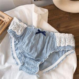 Sweet Mori Girls Bow Panties Lace Briefs Cute Lolita Underpants Japanese Panties
