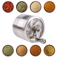 4 Layer Metal Zinc Alloy Herb Tobacco Grinder Hand Muller Smoke Crusher Spice