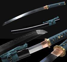 Japan Samurai Tang Sword Katana Wakizashi Clay Tempered T10 Steel Sharp Blade