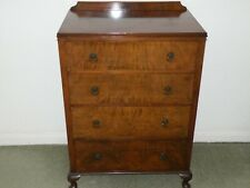WALNUT CHEST OF DRAWERS WITH BRASS HANDLES IN LOVELY CONDITION