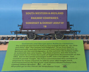 Dapol SR Conflat South Western & Midland Railway S&DJR Container Nº 18 LE of 118