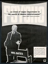 1961 Alfred Hitchcock photo Psycho movie Academy Award unusual trade print ad