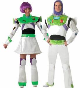 Adult DISNEY BUZZ LIGHTYEAR Fancy Dress Costume Ladies Mens Theme Party Miss