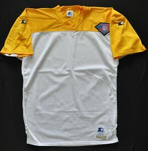 BLANK GREEN BAY PACKERS STARTER JERSEY 75th Patch Yellow White ALT SEWN L RARE