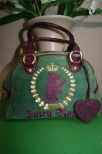 JUICY COUTURE green/plum  bowler purse bag (p100)