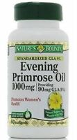 Nature's Bounty Evening Primrose Oil 1000 mg Softgels 60 ea (Pack of 2)