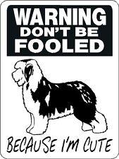 Old English Sheepdog Aluminum Sign Dog Breed d3143