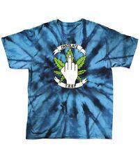 CIOCCOLATO Skateboard fu POT Weed Leaf Tie Dye Da Uomo Trunk Boyz Blu T-shirt di grandi dimensioni