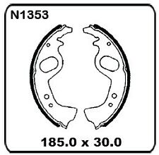 Fiat Regata Series With Girling Brakes 1984 onwards REAR Drum Brake Shoes N1353