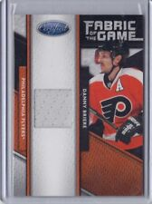 DANNY BRIERE FLYERS 2011-2012 CERTIFIED FABRIC OF THE GAME 391/399 #104
