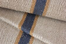 Antique Vintage STAIR RUNNER HEMP fabric per ONE YARD length  RARE HEMP  stripe