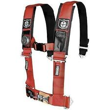 "Pro Armor 4-Point Harness with 2"" Pads Sewn Together Red #A114220RD"