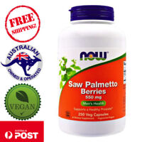 Now Foods Saw Palmetto Berries 550mg 250 Vegan Caps Supports a Healthy Prostate