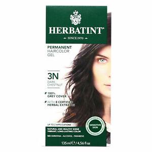 Herbatint Permanent Herbal Hair Color Gel, 3N Dark Chestnut, 4.56 Ounce