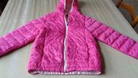 Kids Sz M 10/12   Eddie Bauer   Hooded   Coat Jacket - pink - clean