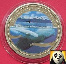 Palau 2002 $1 DOLLARO Vita Marina PROTEZIONE COLORATA CAPODOGLIO CAPODOGLIO Coin
